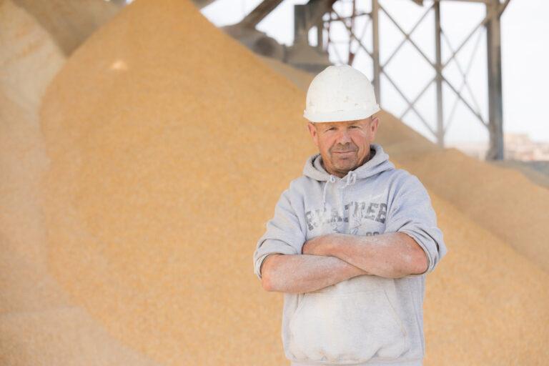 Feed mill employee